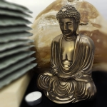 Bronze Traditional Buddha in lotus position (Large)