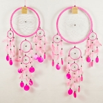 Dreamcatcher round with shell: Pink