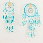 Dreamcatcher bead, bone & shell: Turquoise