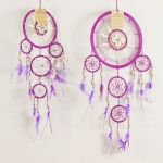 Dreamcatcher bead, bone & shell: Purple