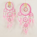 Dreamcatcher bead, bone & shell: Pink