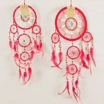 Dreamcatcher bead, bone & shell: Red