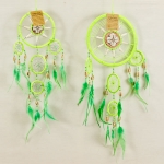 Dreamcatcher bead, bone & shell: Green