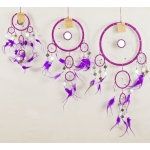 Dreamcatcher with mirror: Purple