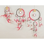 Dreamcatcher with mirror: Black & red