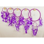 Dreamcatcher round: Purple