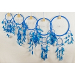 Dreamcatcher round: Blue