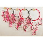 Dreamcatcher round: Black & red
