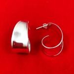 Wide Fronted Hoop Earrings
