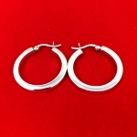 Small Square Cut Hoop Earrings