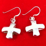 Chunky Cross Earrings