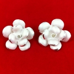 Satin Finish Rose Design Earrings