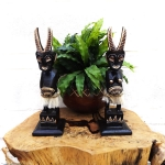 Couple of Primitive sculptures (Horned)