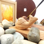 Wooden Incense holder with Snail