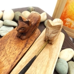 Wooden Incense holder with Cat