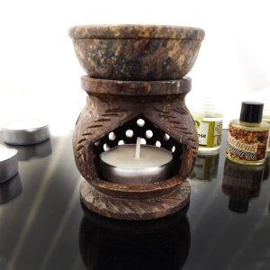 Round Lattice oil burner (brown)