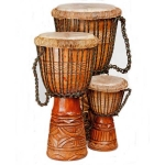 Deep-carved Djembe Drum