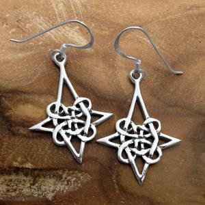 Celtic Knot Star Drop Earrring