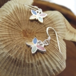 Butterfly hook mother of pearl earrings