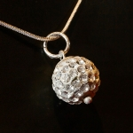 Silver Shamballa style pendant