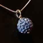 Blue Shamballa style pendant