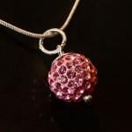 Pink Shamballa style pendant