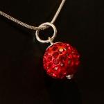 Red Shamballa style pendant