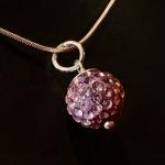 Rose shambala style pendant