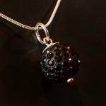 Black Shamballa style pendant