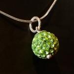 Green Shamballa style pendant