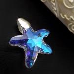 Starfish Austrian Crystal Pendant
