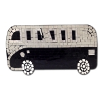Mosaic VW Camper Van with black tiles