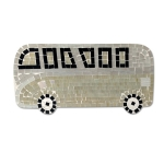 Mosaic VW Camper Van with Beige and Gold