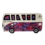 Mosaic VW Camper Van with Multi-coloured Tiles