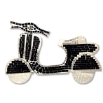 Scooter Shaped Mosaic Wall Piece (Black)