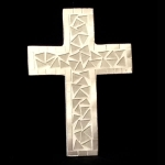 Cross Shaped Mosaic Mirror with White Tiles