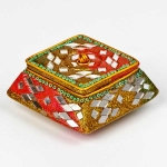 Square terracotta trinket box