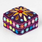 Square tin trinket box