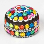 Round tin trinket box