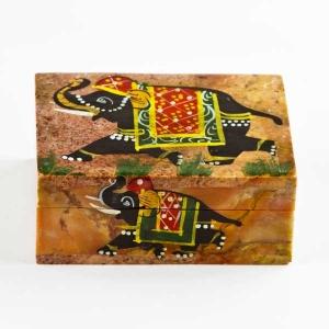 Rectangular soapstone trinket box