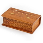 Wooden 'book' trinket box