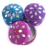 Round glitter trinket box