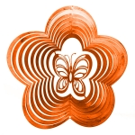 Copper butterfly wind spinner 8""