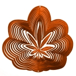 Copper cannabis wind spinner 8""