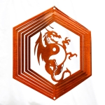 Copper dragon wind spinner 8""