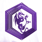 Purple dragon wind spinner 8""