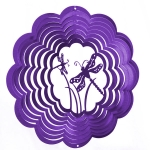 Purple dragonfly wind spinner 8""