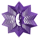 Purple eclipse wind spinner 8""
