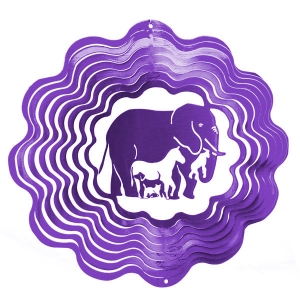 Purple elephant wind spinner 8""