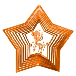 Copper fairy wind spinner 8""